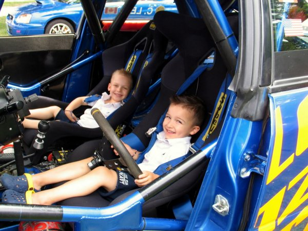 Young drivers in CrazyLeo's car