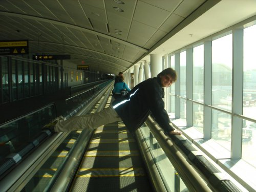 Fastest moving walkway at Pearson International Airport