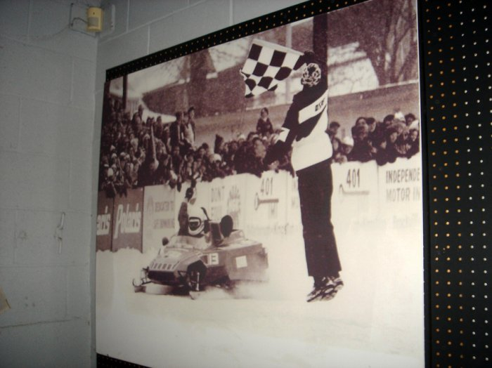 Villeneuve started from snowmobile racing