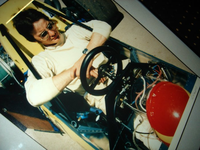 Gilles Villeneuve getting ready for the race