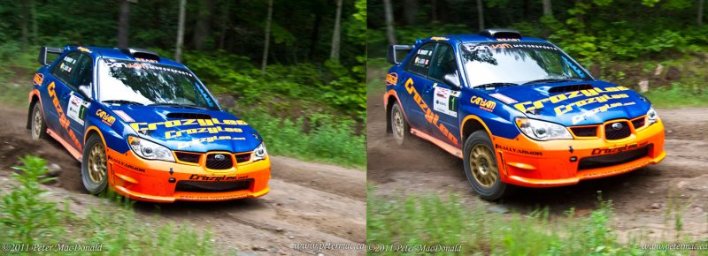 Weight transfer in a rally car