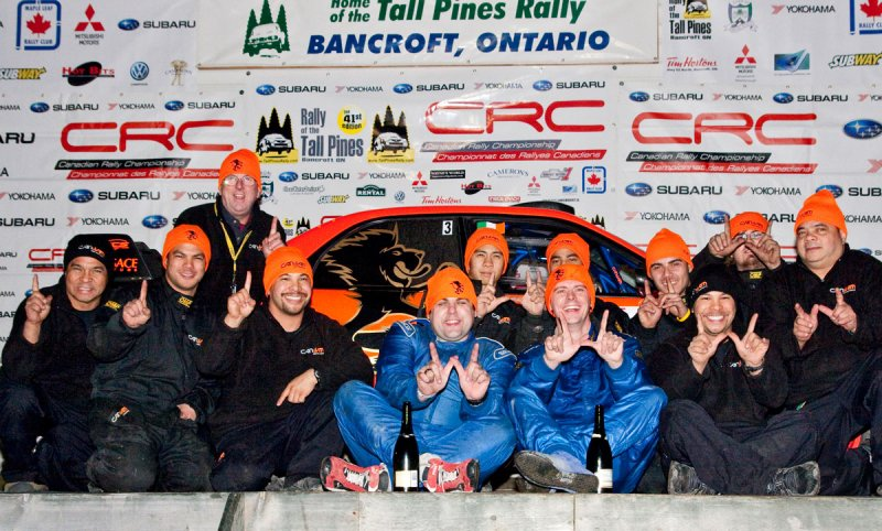 Can Jam motor sports team Martin Brady Crazy Stewart Hoo Leonid Urlichich tall pines rally