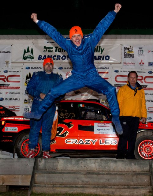 Crazy Leo win tall pines rally