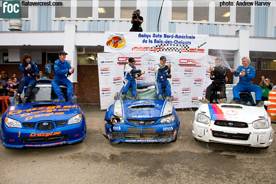 Crazy Leo's first national rally podium in Canada